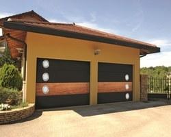 Porte de garage bi-color - Magnanville -STB l'Espace Fenêtre